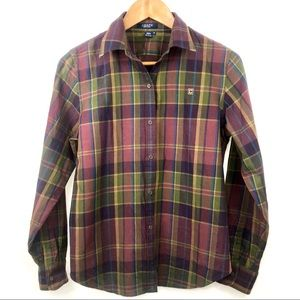 New! Chaps Fall Plaid Button Down Sized Medium